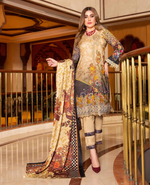 Load image into Gallery viewer, Gold Linen by Munira Ladies Suit