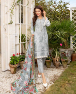 Load image into Gallery viewer, Grey Airjet Fabric by Munira Ladies Suit