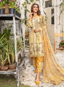 Gold Airjet Fabric by Munira Ladies Suit