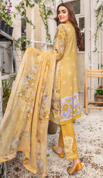 Load image into Gallery viewer, Gold Airjet Fabric by Munira Ladies Suit