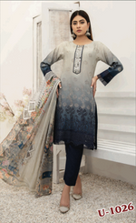 Load image into Gallery viewer, Grey and Blue Chiken Kari Ladies Suit