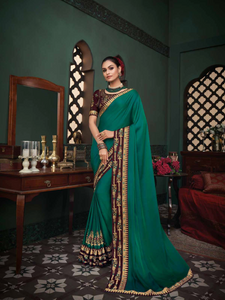 Green Vanya Silk Ladies Saree