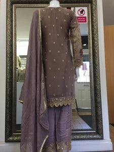 Lilac Chiffon Ladies Suit