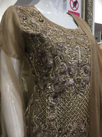 Load image into Gallery viewer, Gold and Lilac Ladies Suit