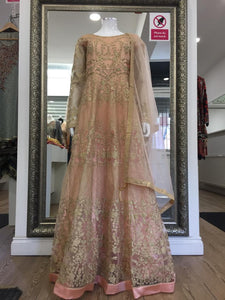 Peach and Gold Ladies Frock