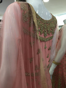 Pink and Gold Ladies Frock
