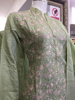 Load image into Gallery viewer, Green Viscose Summer Ladies Suit