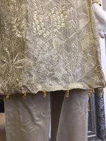 Load image into Gallery viewer, Gold Agha Noor Style Silk Ladies Suit