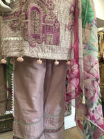 Load image into Gallery viewer, Lilac Summer Embroidered Pure Cotton Ladies Suit
