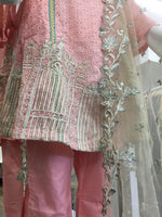 Load image into Gallery viewer, Pink Summer Embroidered Pure Cotton Ladies Round Frock