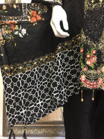 Load image into Gallery viewer, Black Chikankari Mother Daughter Ladies Frock