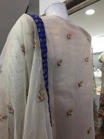 Load image into Gallery viewer, Off White Maria B Inspired Organza Ladies Suit