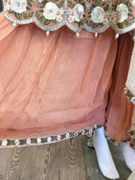 Load image into Gallery viewer, Peach Sharara Ladies Peplum Frock