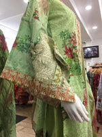 Load image into Gallery viewer, Green Summer Pure Cotton Ladies Suit
