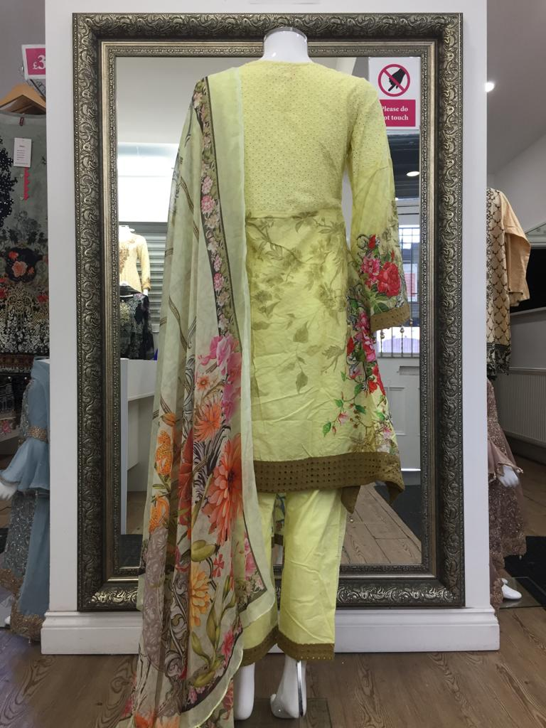 Yellow Summer Pure Cotton Ladies Frock