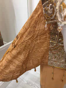 Gold IVANA Luxury Lawn Girls Frock