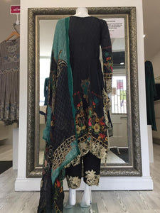 Black IVANA Luxury Lawn Ladies Frock