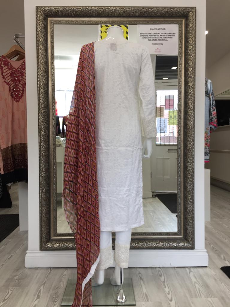 White Linen Ladies Suit