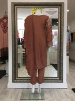 Load image into Gallery viewer, Brown Linen Ladies Suit
