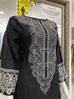 Load image into Gallery viewer, Black Linen Ladies Kurti