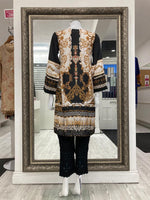 Load image into Gallery viewer, Off White Silk Ladies Kurti