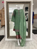 Load image into Gallery viewer, Green Georgette Ladies Suit
