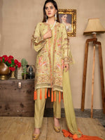Load image into Gallery viewer, Mustard Embroidered Lawn Ladies Suit