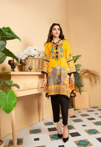 Yellow Munira Designer Ladies Kurti