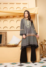 Load image into Gallery viewer, Black and Mint Green Munira Designer Ladies Kurti