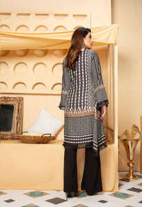 Black and Mint Green Munira Designer Ladies Kurti