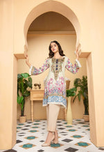 Load image into Gallery viewer, Cream Munira Designer Ladies Kurti