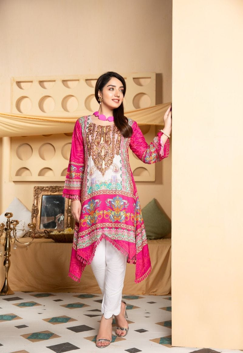 Pink Munira Designer Ladies Kurti