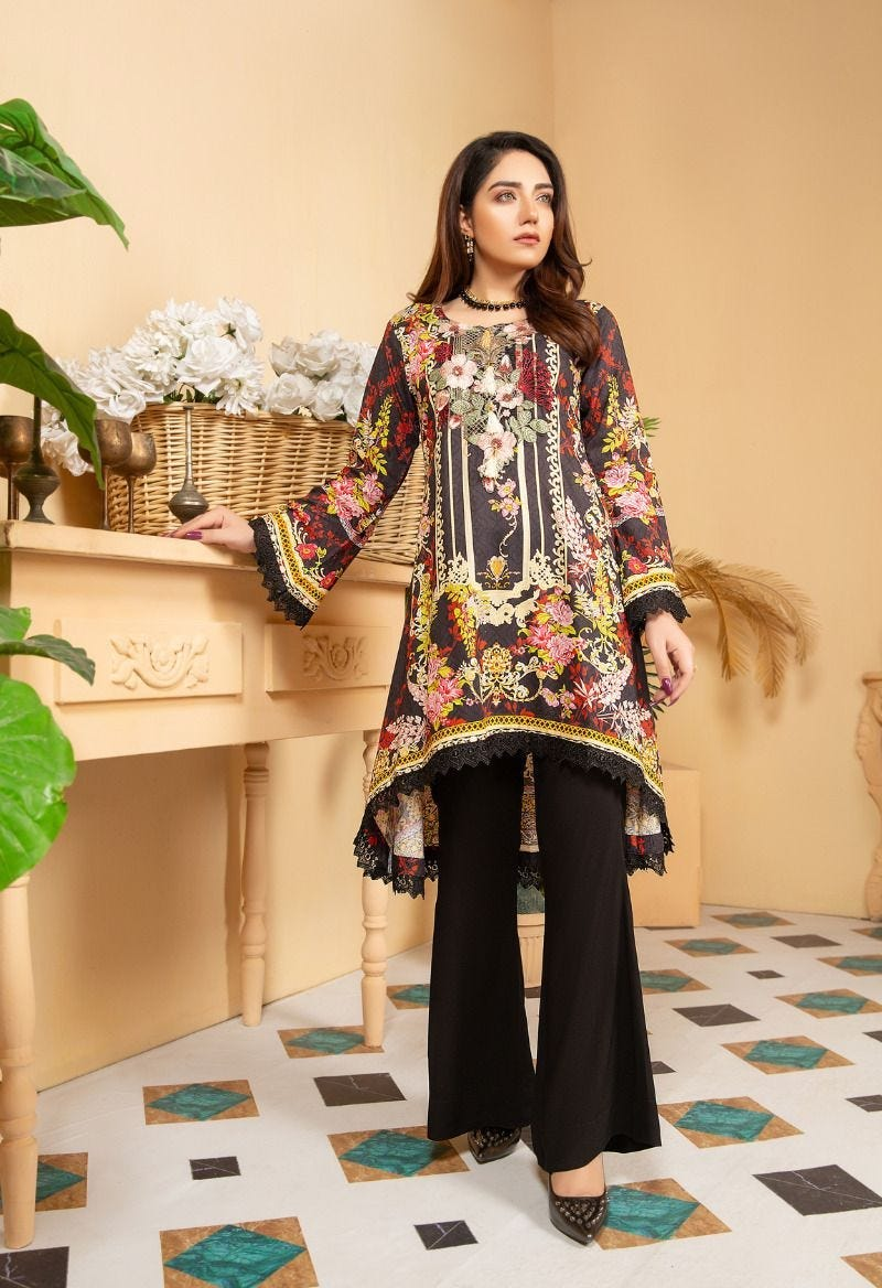 Black Munira Designer Ladies Kurti