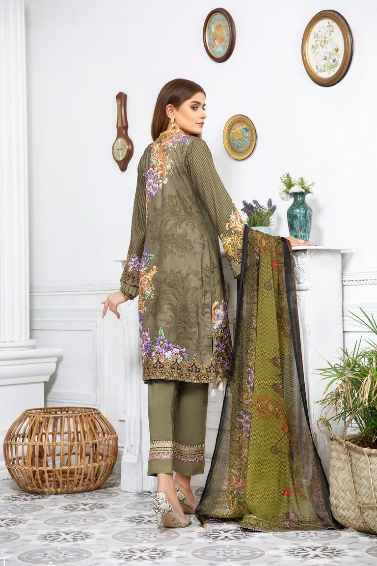 Green Linen by Munira Ladies Suit