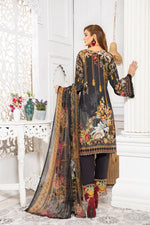 Load image into Gallery viewer, Black Linen by Munira Ladies Suit