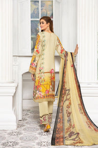 Creamy Gold Linen by Munira Ladies Suit