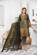 Load image into Gallery viewer, Grey Linen by Munira Ladies Suit