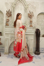 Load image into Gallery viewer, Pink and Red IVANA Luxury Lawn Ladies Suit
