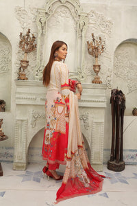 Pink and Red IVANA Luxury Lawn Ladies Suit