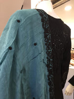 Load image into Gallery viewer, Black Sequin Teal Dupatta Chiffon Ladies Suit
