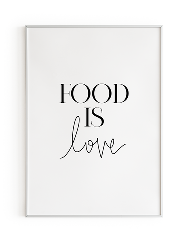 Food is Love Handwritten
