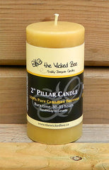 "100% Pure Beeswax Pillar 2""x4"""