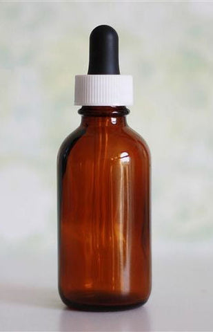 Amber Glass Bottle with Glass Dropper - 50 ml