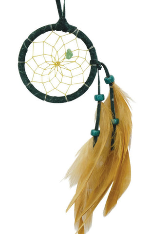 "Dream Catcher 2"" Forest Green with Aventurine"