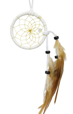 "Dream Catcher 2"" White with Clear Quartz"