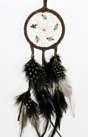 "Dream Catcher 2.5"" Brown with Green Aventurine"