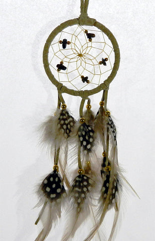 "Dream Catcher 2.5"" Tan with Tiger's Eye"