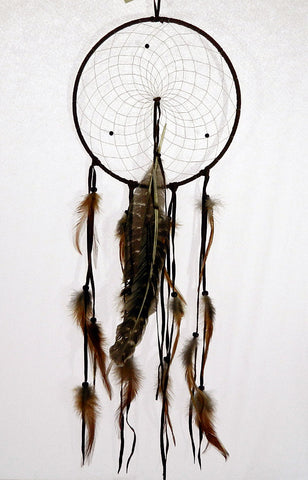 "Dream Catcher 9"" with Wild Turkey Feathers"