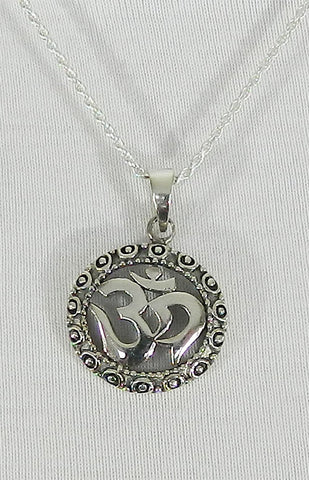 Sterling Silver Symbol Pendant 07