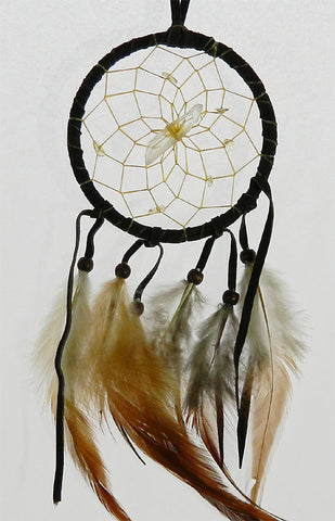"Vision Seeker Dream Catcher 3"" Dark Brown with Citrine"